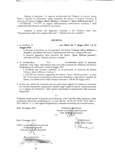 Decreto sindaco Lucini n. 28 del 2013 pag.2