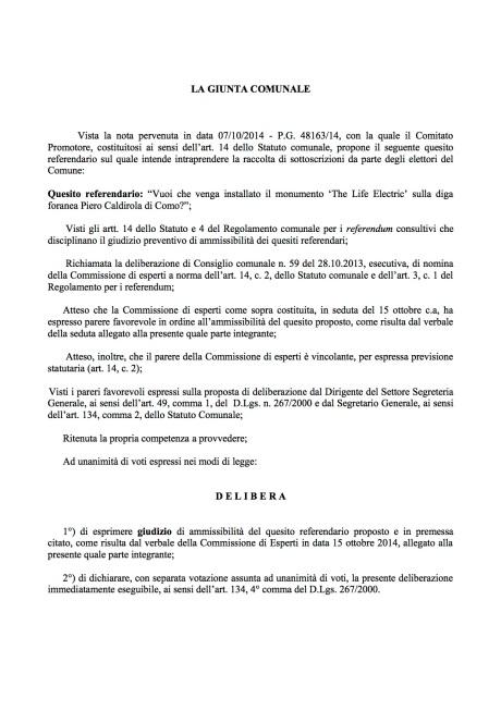 D.G.C. n. 373 del 22.10.2014